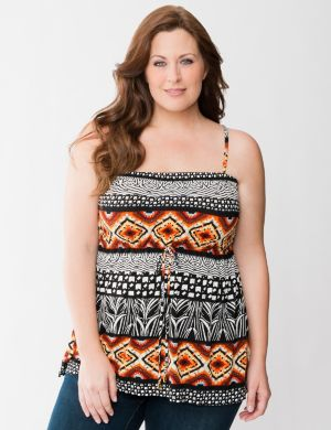 Tribal print tube top