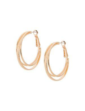 Dusted double hoop earrings by Lane Bryant