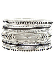 Beaded bangle bracelet set by Lane Bryant