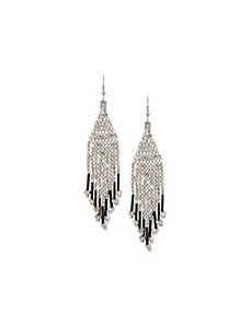Silvertone nugget earrings by Lane Bryant