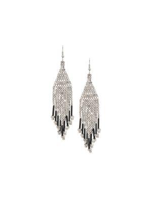 Silvertone nugget earrings by Lane Bryant