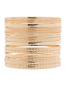 Textured bangle bracelet set by Lane Bryant