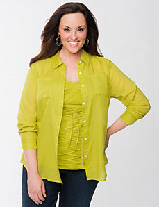 Lane Collection utility shirt by LANE BRYANT