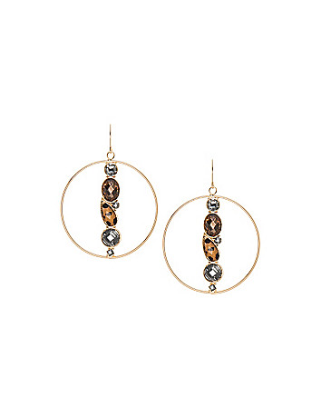 Animal stone hoop earrings by Lane Bryant