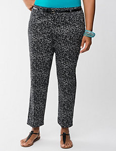 Belted ankle pant by Lane Bryant