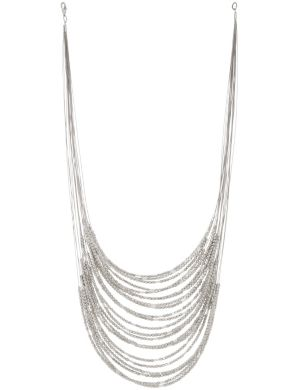 Tiered nugget illusion necklace by Lane Bryant
