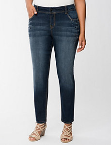Embellished ankle jean by Lane Bryant