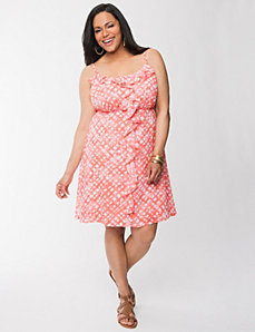 Ruffled chiffon dress
