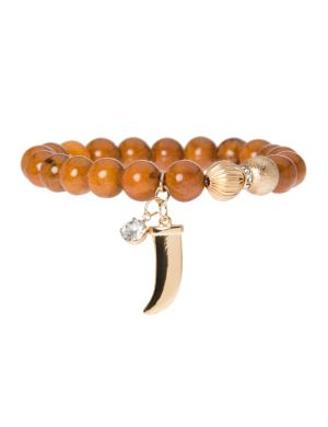 Semi precious bracelet with charm by Lane Bryant