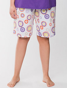 Medallion print Bermuda sleep short