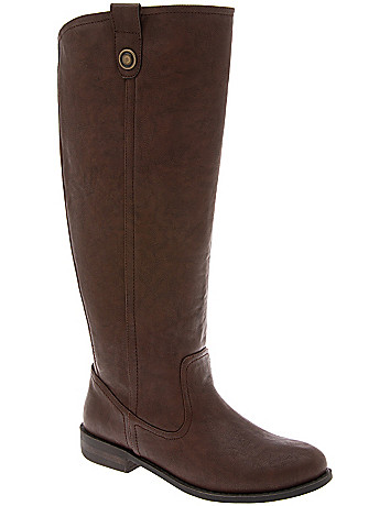 Clean riding boot