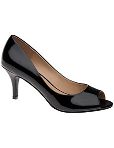 Patent peep toe pump by LANE BRYANT