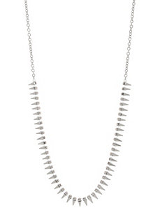 Cubic zirconium spike necklace by Lane Bryant
