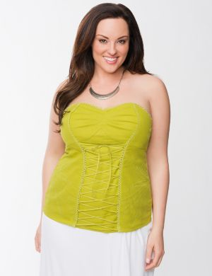 Lane Collection eyelet bustier