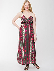 Tribal print maxi dress by LANE BRYANT