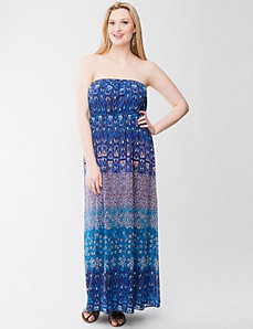 Mixed print maxi dress by LANE BRYANT