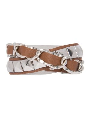 Chain & stud wrap bracelet by Lane Bryant