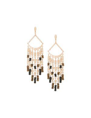 Wooden bead chandelier earrings by Lane Bryant