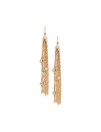 Tassel & block earrings by Lane Bryant