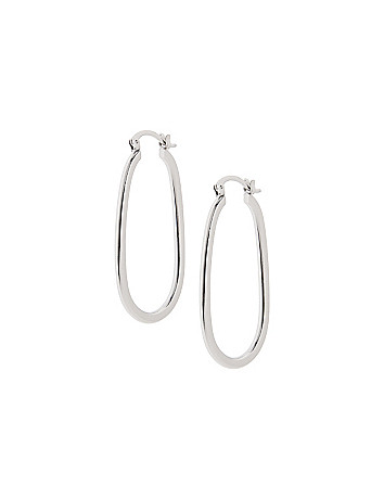 Flat edge hoop earrings by Lane Bryant