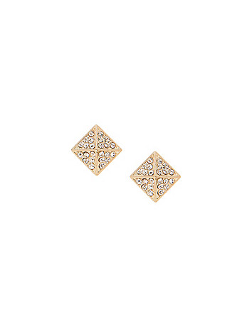 Rhinestone pyramid stud earrings by Lane Bryant