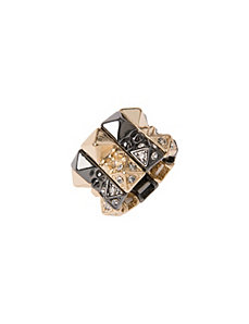 Rhinestone pyramid ring by Lane Bryant