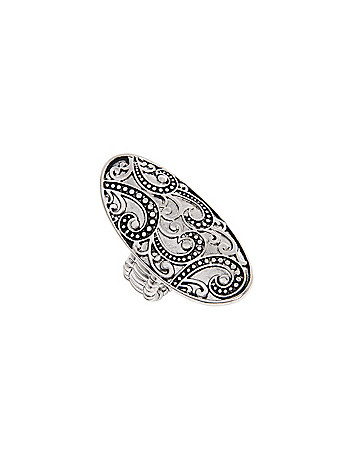 Etched oval ring by Lane Bryant