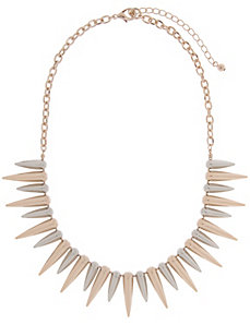 Two tone spike necklace by Lane Bryant by LANE BRYANT