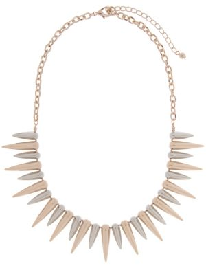 Two tone spike necklace by Lane Bryant