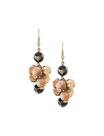 Animal print cluster earrings by Lane Bryant