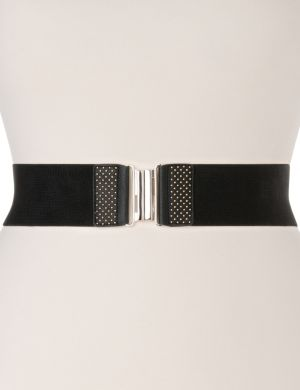 Studded stretch belt