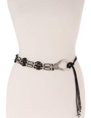 Beaded knot belt