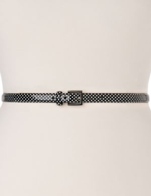 Polka dot skinny belt
