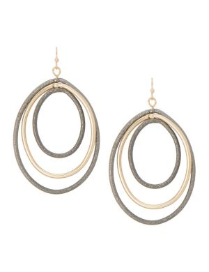 Triple teardrop earrings by Lane Bryant