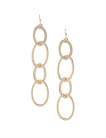 Oval link linear earrings by Lane Bryant