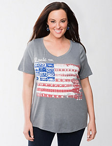 Rock On flag tee