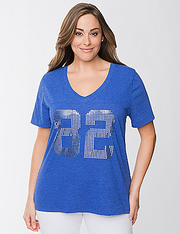 Sequin athletic tee