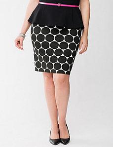 Lane Collection polka dot pencil skirt