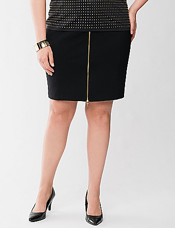 Lane Collection zip front skirt