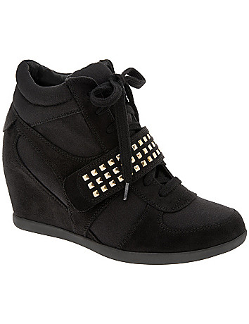 Studded wedge sneaker