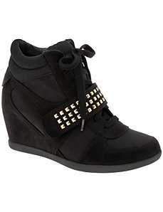 Studded wedge sneaker by LANE BRYANT