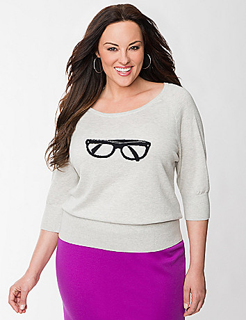 Eyeglasses graphic sweater