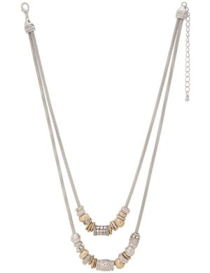 Beaded snake chain necklace by Lane Bryant
