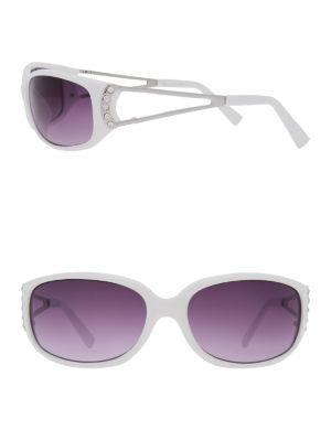 Rhinestone temple sunglasses