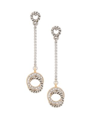 Eternity drop earrings by Lane Bryant