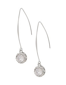Bezel set drop earrings by Lane Bryant