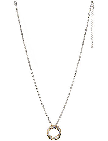 Two tone circle necklace by Lane Bryant
