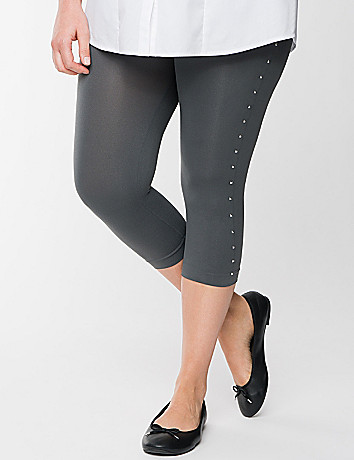 Plus Size Square Stud Legging by Lane Bryant