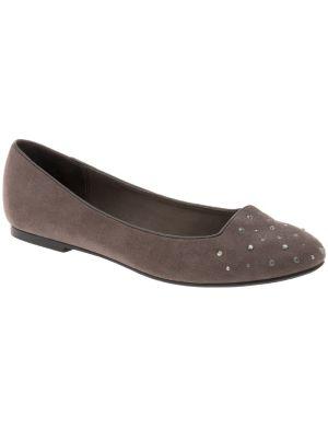 Embellished smoking slipper
