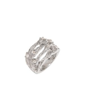 Twisted cubic zirconium ring by Lane Bryant